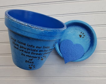 Dog Memorial Gift - Cat Memorial Gift - Painted Flower Pot - Pet Memorial Planter - Pet Sympathy Gift