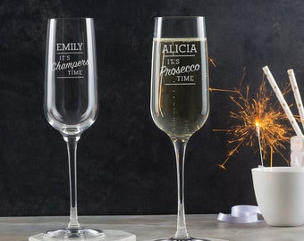 It's Prosecco Time Personalised Prosecco Glass