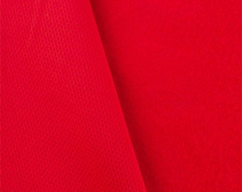 Crimson Red Pique Double Knit, Fabric By The Yard