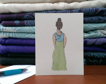 Babywearing Mother Card – Mother's Day Card – New Mom Card – Baby Shower Card