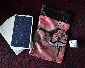 Fairy Art Pouch, Drawstring Bags, Tarot Bags, Dice Bags