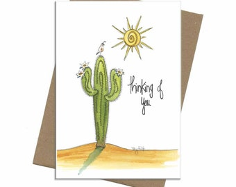 Southwest Saguaro Cactus | Thinking of You Card