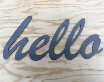 Metal Hello Sign #2