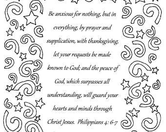 philippians 46 7 bible verse coloring - Philippians 4 6 Coloring Page