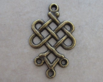 20 weave knot antiqued brass link connectors