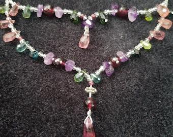 Tanzanite teardrop necklace