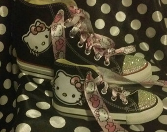 Mother/ daughter hello kitty converse sneakers