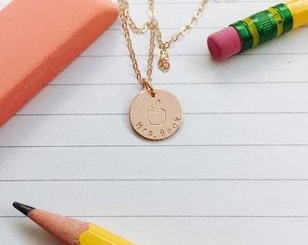 Apple of My Eye/Teacher Appreciation necklace