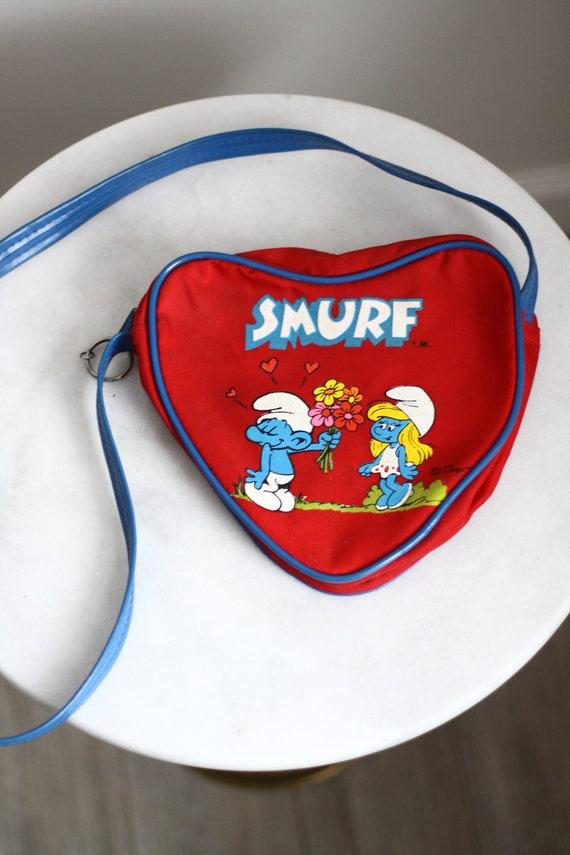 1980s Smurf purse // vintage Smurf purse// vintage purse