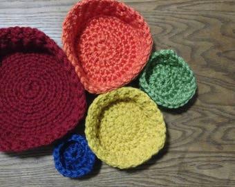 Rainbow Nesting Bowls