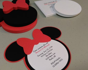 Diy minnie mouse invitations in light pink birthday diy minnie mouse invitations in red baby shower invitation set build your own invitations solutioingenieria Choice Image