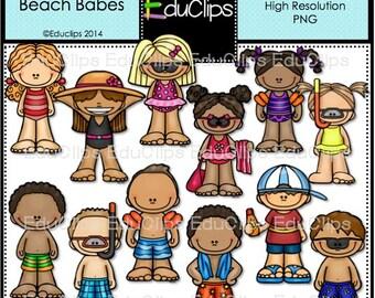 Flappy Feet Beach Babes Clip Art Bundle