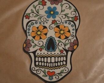Day of the Dead Sugar Skull Fondant Cake Topper
