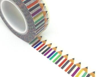 Pencils Washi Tape 15mm x 10m