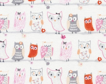Owl Fabric - 1 Yard Cut - Timeless Treasures - Cotton Fabric - Quilting Fabric