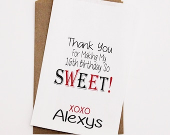 Candy  Bags, Sweet 16 Party, Birthday Favor Bags