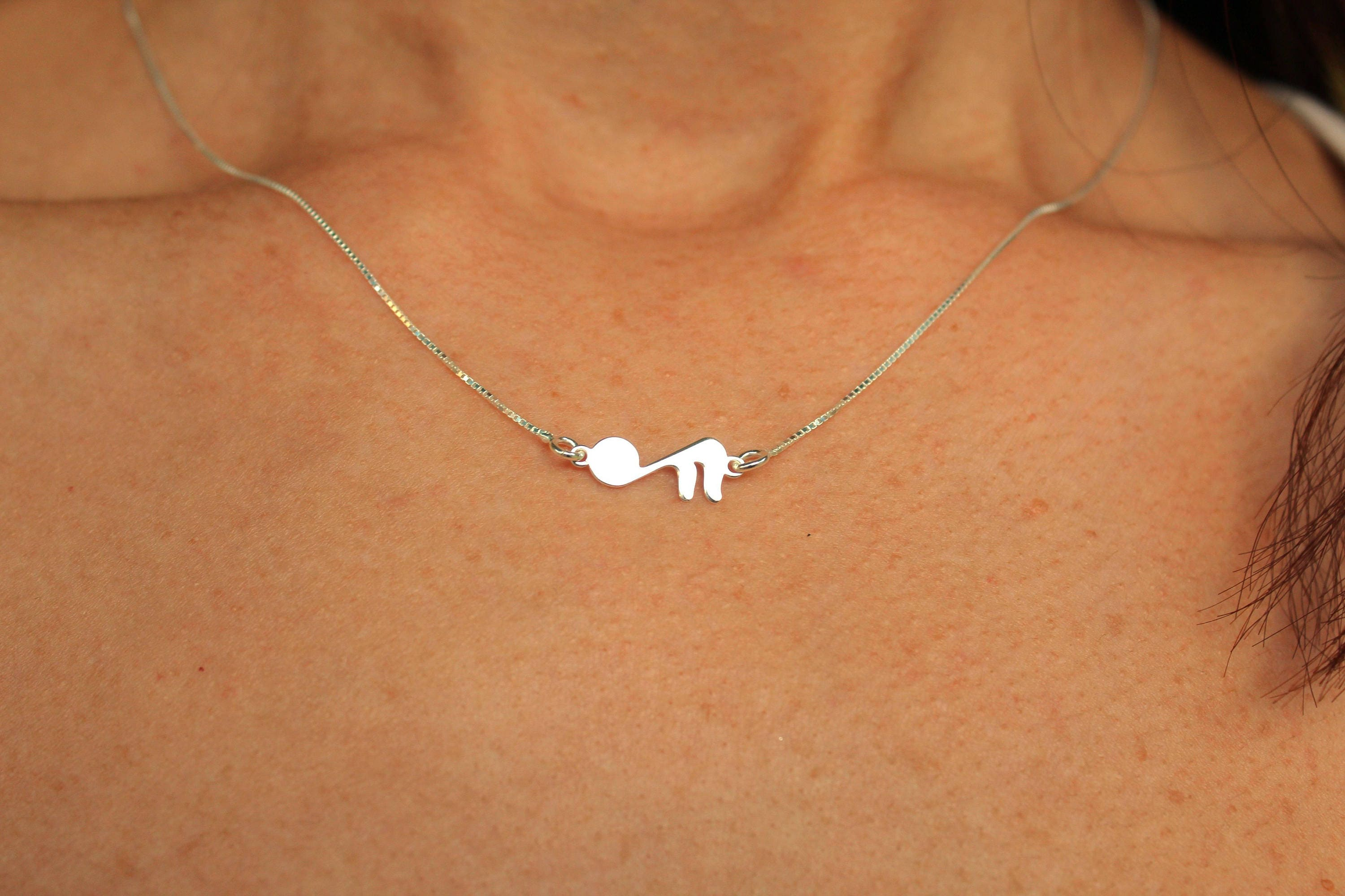 music silver necklace sterling by orbital pendant techniflow product
