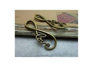 SET of 3 large infinity love bronze infinity (R44)