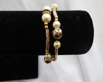 Double-Strand Goldtone Bracelet