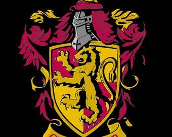 Gryffindor Cross Stitch Pattern, Harry Potter Cross Stitch Pattern, Modern Cross Stitch, Pdf Format, Instant Download