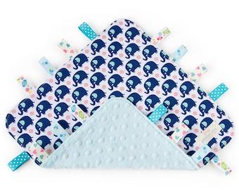 Tag Blanket - Aqua Ele