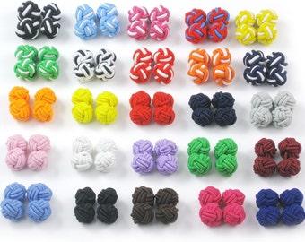 20 Pairs Silk Knot Cufflinks Cuff links Findings Mens Shirt Wedding Business SA23
