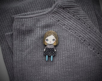 art doll brooch