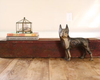 Large Industrial Vintage Red Metal Compartment Toobox