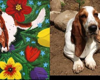 Custom Pet Portrait, Acrylic on Canvas, Animal Art, Original art work, Dog, Cat, Bird, Reptile, Horse, Fish, pet, pets Item #PP1824