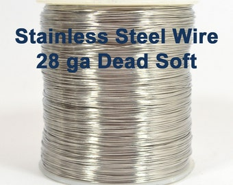 28ga Stainless Steel Wire - Dead Soft - Choose Your Length
