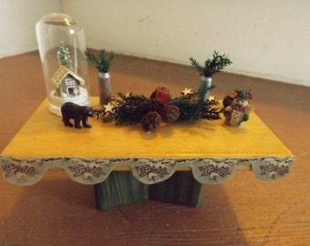 mini winter tablescape