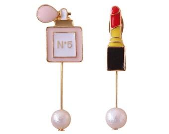 Fashion beauty lipstick earrings