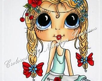 INSTANT DOWNLOAD Digital Digi Stamps Big Eye Big Head Dolls Bestie New Bestie Img372 My Besties By Sherri Baldy