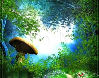 Photography Backdrops Fantasy Forest Glen Background Ultralite Fabric-Not Vinyl ST284