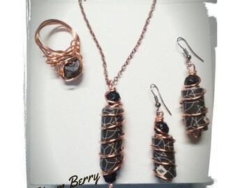 Elegant sets of paper and copper