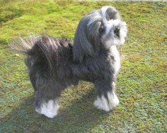 Custom Pet Portrait / Needle Felted Dog / Handmade Animal Sculpture / Lifelike Memorial / Poseable
