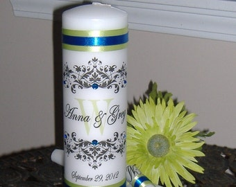 Unity Candle. Unity Candle Set, Wedding Candle, Monogram Candle, Monogram Unity Candle