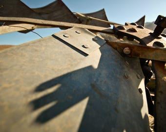 Windmill Down, Western Photography, Southwestern, Digital Print, Wall Decor