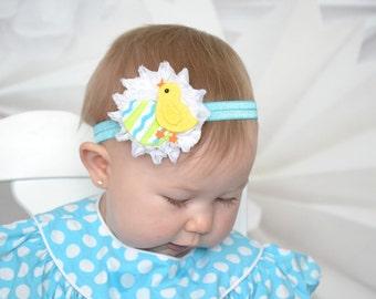 U pick size Easter Chick Headband Easter headband Chicky headband baby infant girls bow headband Easter yellow chick hairband bow