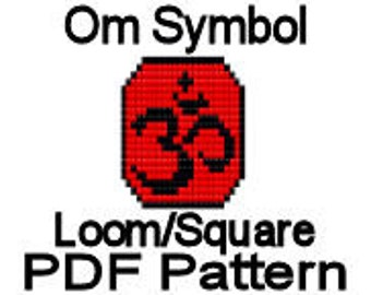 Loom Bead Pattern Om Symbol Beaded Graph Pattern Loom Square Stitch PDF File Delica Seed Beads
