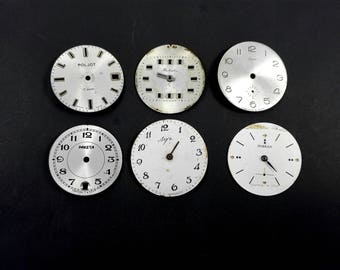 Steampunk supply Watch face lot Watch parts Movements Mechanisms Wristwatch parts Mixed media supply Altered art supply Small watch face