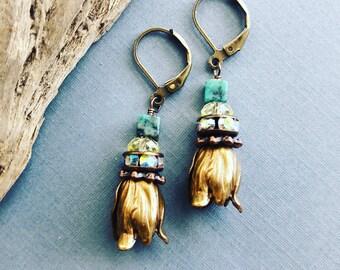 Tulip Flower Earrings