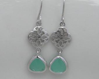 Mint Earrings, Small Drop Earrings, Small Dangle Earrings, Bridesmaid Gift, Gift For Her