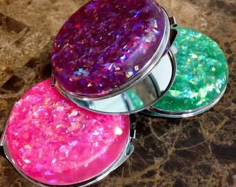 Glitter Compact Mirror