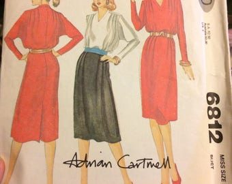 Vintage Sewing Pattern Simplicity 9923 Misses' Blouses in size 10-18, Bust 30-40 Inches UNCUT  Complete