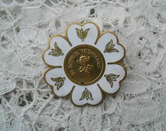 Vintage enamel brooch 1930's