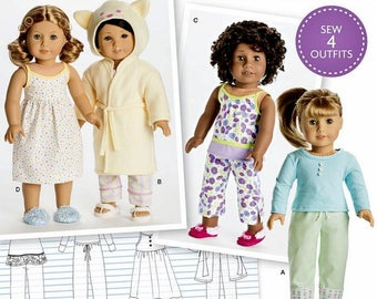 Simplicity 8281- Sewing pattern for 18 Inch Doll Clothes- Fits American Girl Dolls