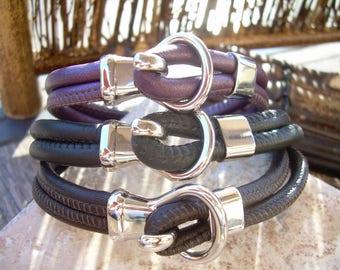 Men's Leather Bracelets Women's Leather Bracelets Nappa Leather Bracelet Leather Bracelets for Men Leather Bracelets for Women Toggle
