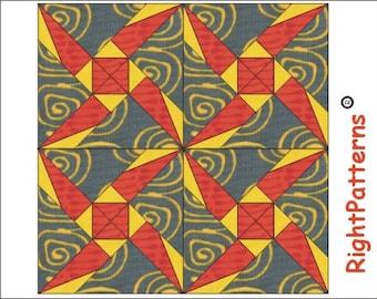 Wonky star quilt block Paper pieced PDF Pattern INSTANT DOWNLOAD