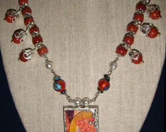 Goldstone Angel Necklace inv1067